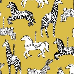 Carousel - Mustard by Andrea Lauren