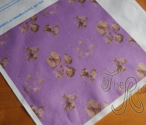 Muddy paw prints - purple