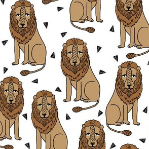 lion // safari lion zoo brown kids simple animal