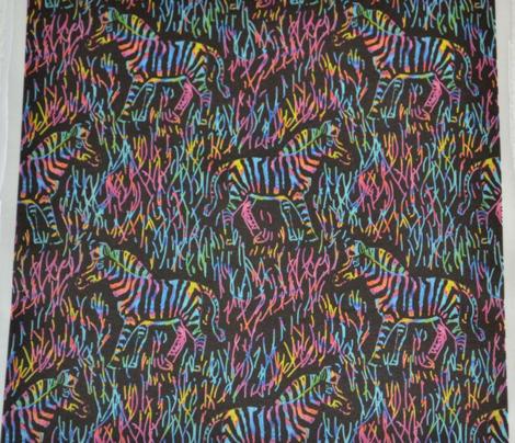 Scratchboard Rainbow Zebras