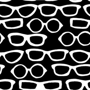 Glasses - Black and White by Andrea Lauren