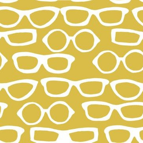 Glasses - Mustard by Andrea Lauren