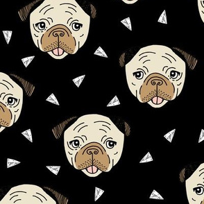 Pugs - Black by Andrea Lauren