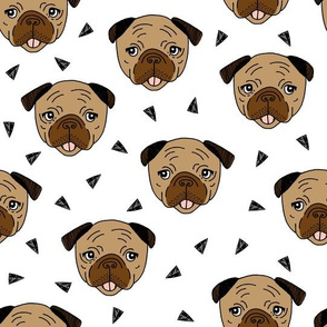 Pugs - Brown by Andrea Lauren