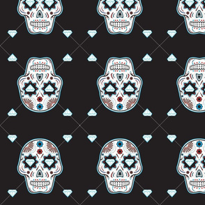 Diamond Sugar Skull Pattern