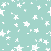 Stars - Pale Turquoise by Andrea Lauren