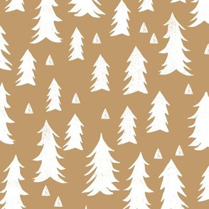 tree // trees taupe brown khaki light brown outdoors trees camping forest fir tree