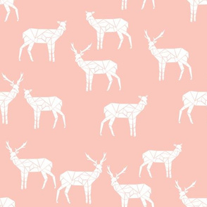 Deer - Pale Pink by Andrea Lauren