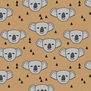 koalas // light brown background cute koala fabric best australian animals design cute australian animal koala pattern print fabric by andrea lauren
