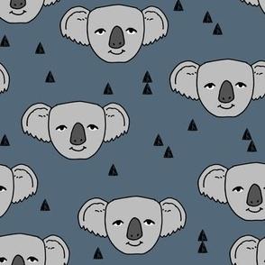 Koala Face - Payne's Grey by Andrea Lauren