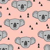 Koala Face - Pale Pink by Andrea Lauren