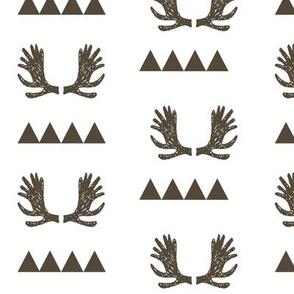 Moose Triangles - Brown by Andrea Lauren