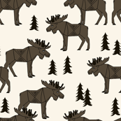 Moose Forest - Brown by Andrea Lauren