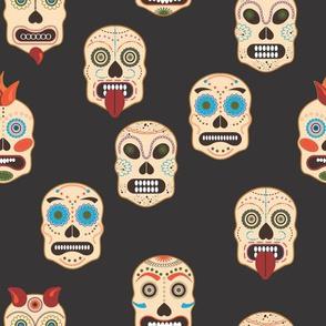 Sugar Skulls with Colored Sprinkles