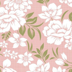 Pink-Green_Floral_12in
