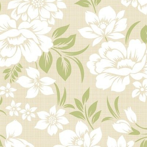 Khaki-Green_Floral_12in