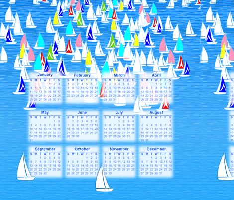 2015 calendar sailing portrait layout