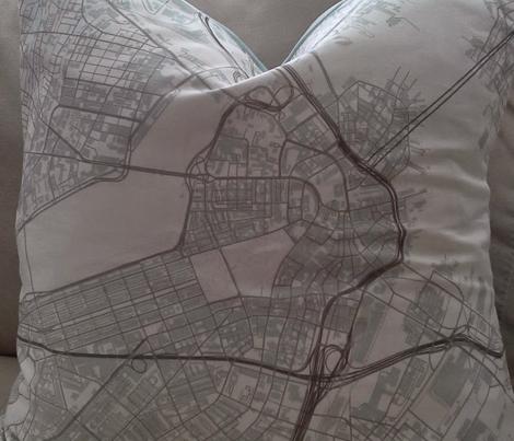 Boston grey city streets fabric