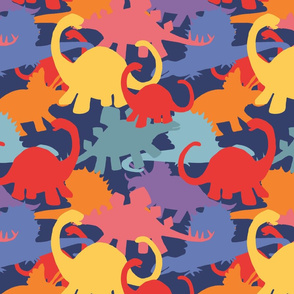 Colorful Dinosaur Camouflage Design