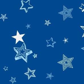 Stars and stars-dark blue
