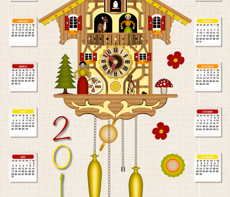 Cuckoo (Tea Towel Calendar 2016)