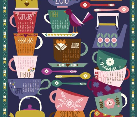 2015 Tea and Coffee Calendar - Dark