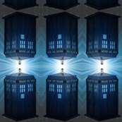 Dr Who Tardis Space Stripe