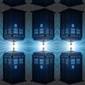 Dr Who Tardis Space Stripe