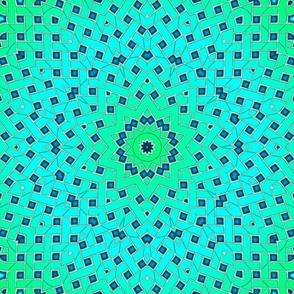 Sea Green Basket Weave Lattice