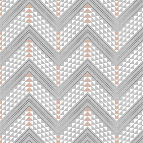 Peach Geo Chevron