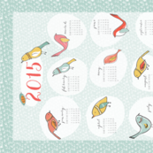 Bird Fellows 2015 Tea Towel Calendar