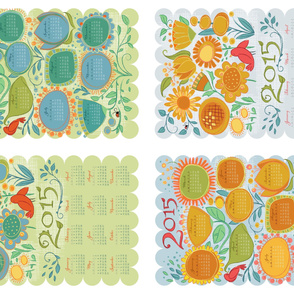 2015 Calendar Tea Towel Drawn Garden_Mix