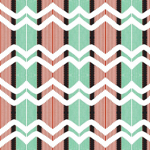 Christmas Ribbon Chevron