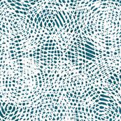 Blue white mesh