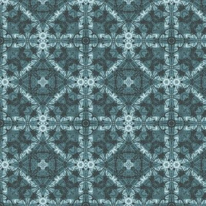 Denim blue geometric