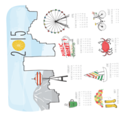 Seattle Themed 2015 Tea Towel Calendar