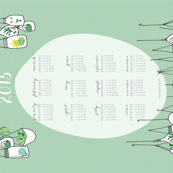 Hanging Terrariums 2015 Tea Towel Calendar