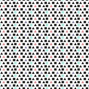 Mini Geometric Colour Pop (on White)
