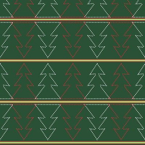 christmas-trees-dots-in-green