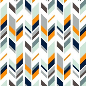 Feather // navy/orange/grey/mint