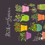 Herb & Spice Calendar Tea Towel