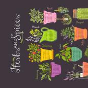 Herb & Spice Calendar Tea Towel