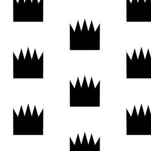 crown monochrome white black