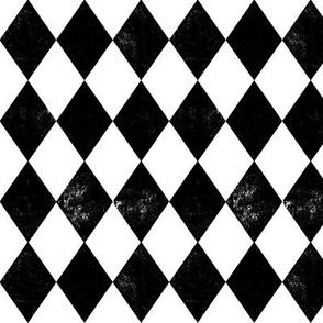 diamond black and white