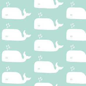 cute whale ocean nursery pastel minimal modern swedish kids design