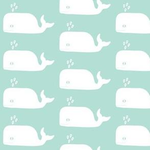 cute whale ocean nursery pastel minimal modern swedish kids design