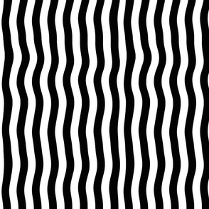 Black and White Vertical Wave