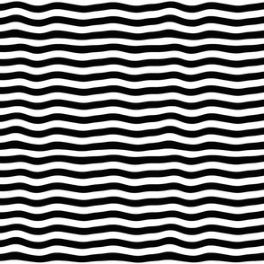 Black And White Horizontal Wave