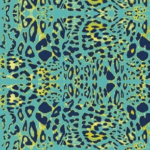 The Wild Side in Navy, Teal and Mustard