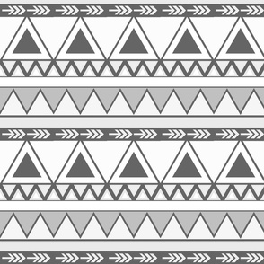 Black & White Aztec